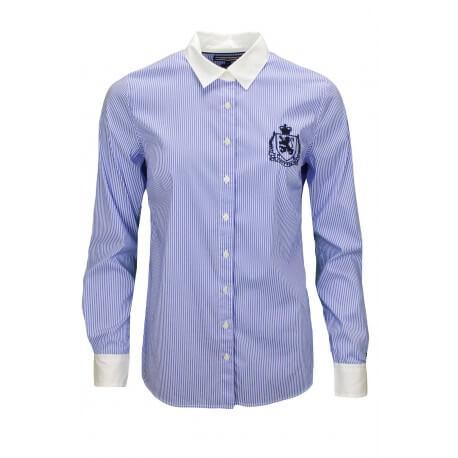 Chemise Tommy Hilfiger fatim rayée bleu et blanc pour femme