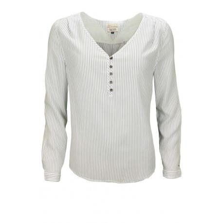 blouse tommy hilfiger blaysa ray e bleu blanc pour femme toujours. Black Bedroom Furniture Sets. Home Design Ideas