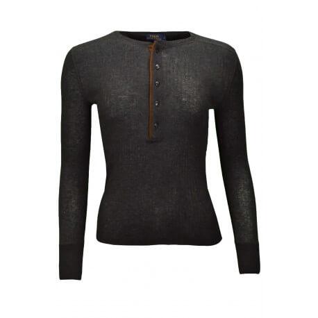 T-shirt manches longues Ralph Lauren Naea noir pour femme