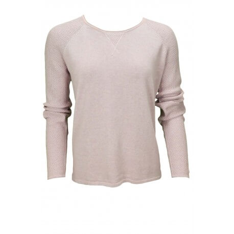 Pull col rond Tommy Hilfiger Gira rose pour femme aut/hiver