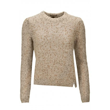 Pull col rond Tommy Hilfiger Diana rose pour femme