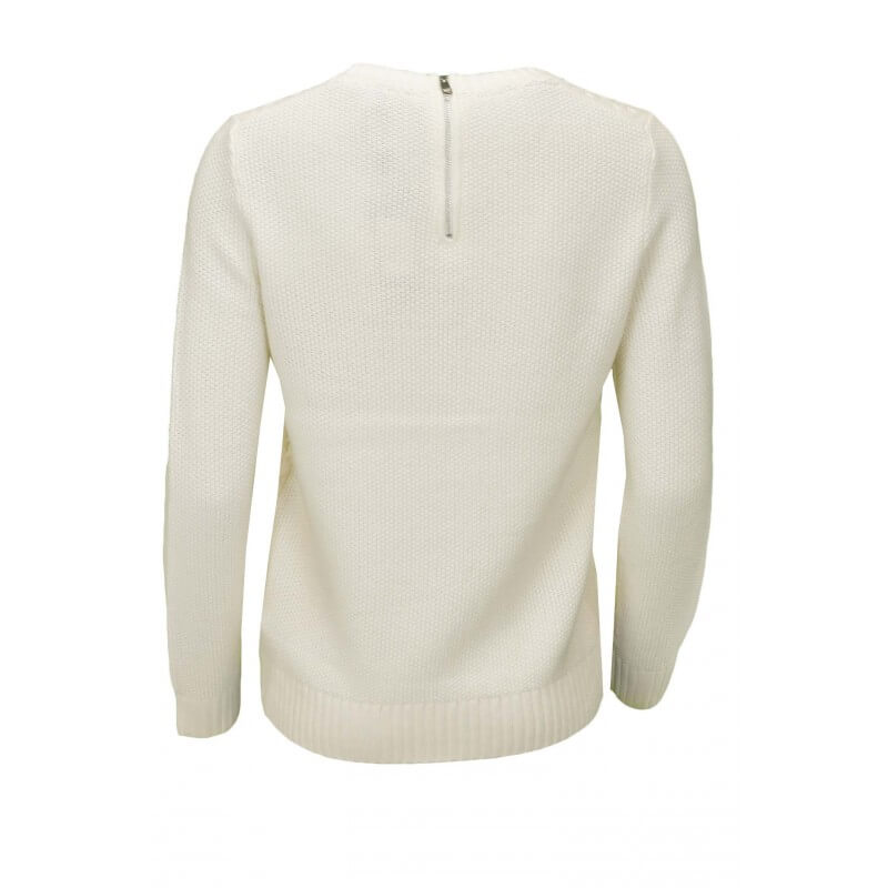 Femme Pull Authiver Col Tommy Rond Pour Hilfiger Blanc Gelly TzTwrA40q