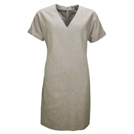 Robe manches courtes Tommy Hilfiger Pia grise pour femme aut/hiver