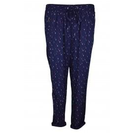 Pantalon fluide Tommy Hilfiger Findy imprimé bleu marine pour femme