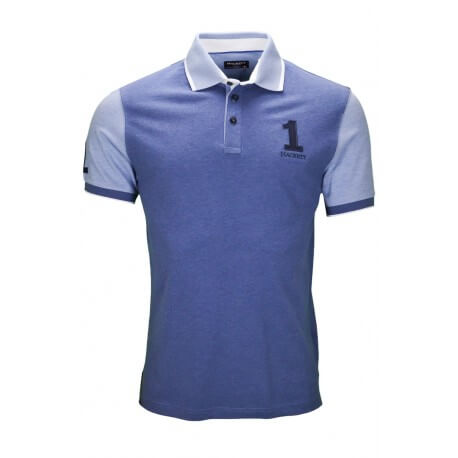 Polo Hackett Marl contrast bleu chambray pour homme