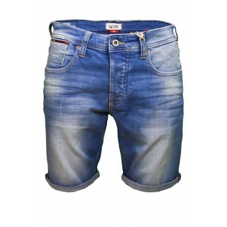 Short bermuda jean Tommy Hilfiger Dénim Ronnie bleu pour homme