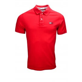 Polo Tommy Hilfiger Dénim Big Flag rouge pour homme