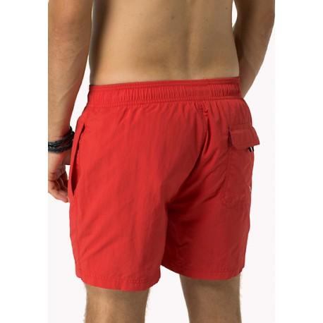 Short de bain Tommy Hilfiger Solid rouge pour homme