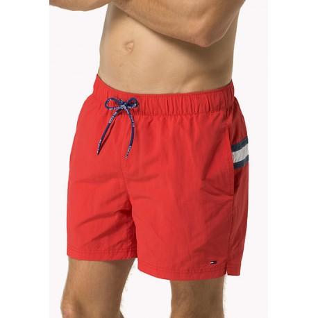 Short de bain Tommy Hilfiger Flag Swim rouge pour homme