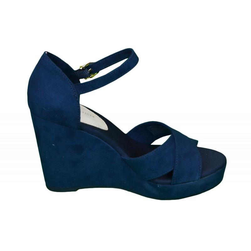chaussures compens es bleu marine. Black Bedroom Furniture Sets. Home Design Ideas