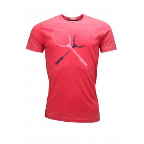 T-shirt Tommy Hilfiger Dénim Raquette rouge pour homme