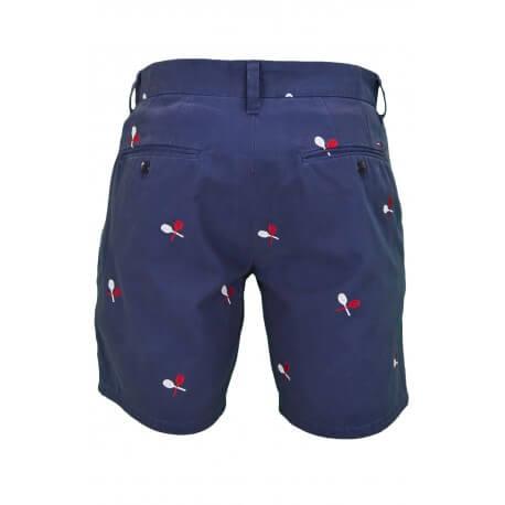 Bermuda Tommy Hilfiger Dénim à motifs raquettes bleu marine pour homme
