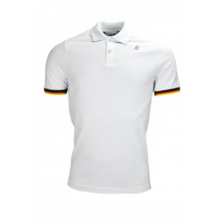 Polo K-Way Vincent blanc pour homme