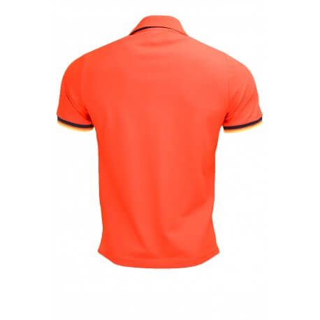 Polo K-Way Vincent orange pour homme