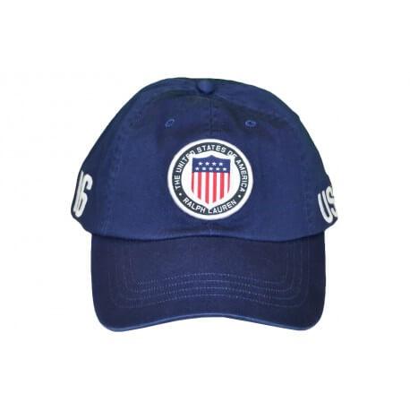 Casquette Ralph Lauren USA bleu marine pour homme
