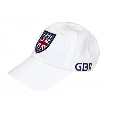 Casquette Ralph Lauren Grande-Bretagne blanche pour homme