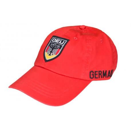 Casquette Ralph Lauren rouge Allemagne pour homme
