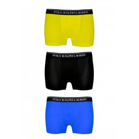 Lot de 3 boxers Ralph Lauren jaune bleu et noir pour homme