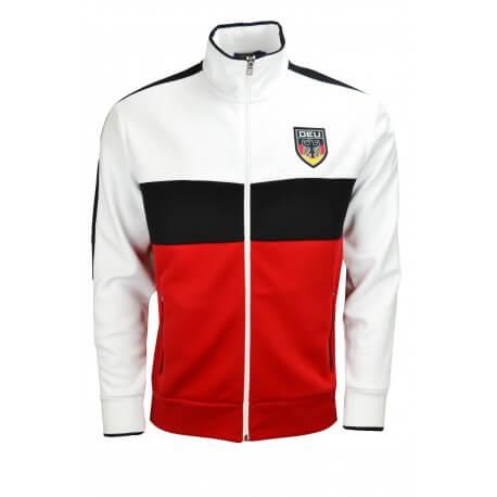 Veste zippée Ralph Lauren Allemagne blanche noire et rouge pour homme