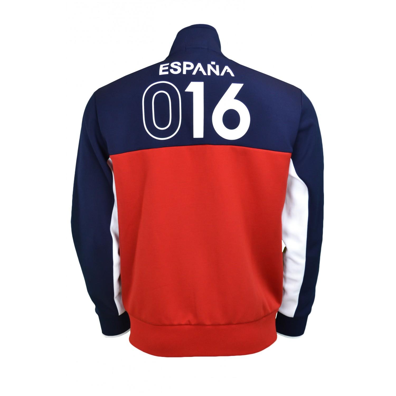 1 sur 5Livraison gratuite Veste zippée Ralph Lauren Espagne bleu marine,  rouge et blanche pour homme 11aa200bbe1e