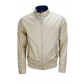 Veste blouson zippé Lacoste beige pour homme