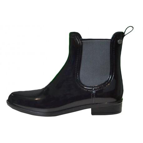 Bottines de pluie Tommy Hilfiger Odette noire pour femme