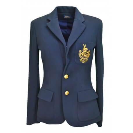 Blazer Ralph Lauren Collège bleu marine pour femme