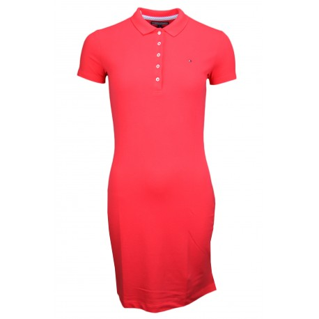 Robe polo Tommy Hilifger Chiara rouge pour femme
