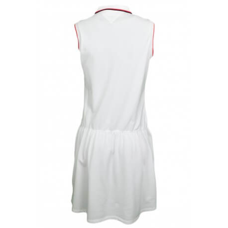 Robe polo Tommy Hilfiger sans manches Minoh blanche pour femme