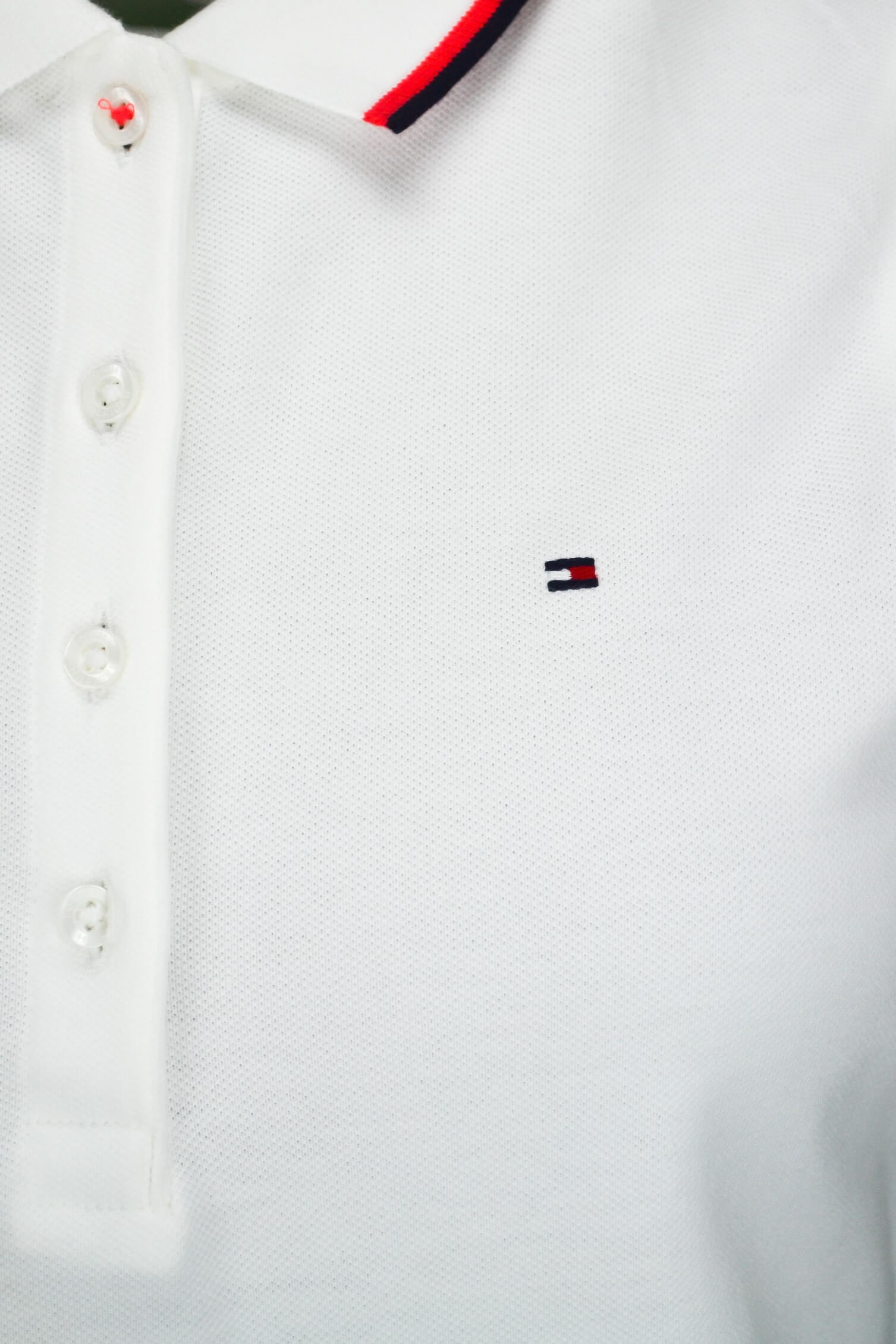 21e8432563f Robe polo Tommy Hilfiger sans manches Minoh blanche pour femme - To...