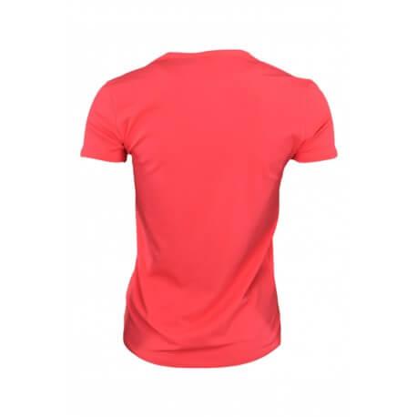 T-shirt Tommy Hilfiger col V Lizzy rouge pour femme