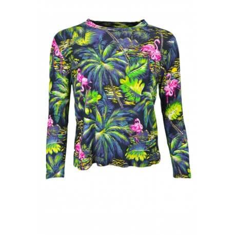 T-shirt manches longues Ralph Lauren Tropical multicolore pour femme