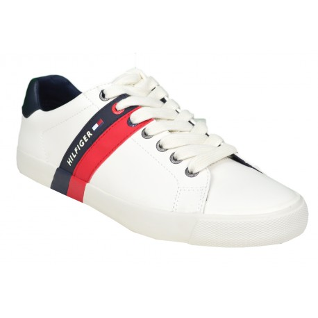 Baskets Tommy Hilfiger Volley blanche pour homme