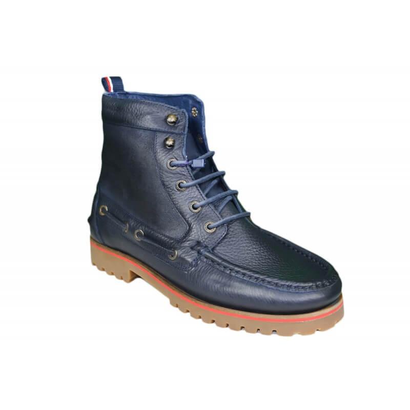 chaussures bateau montantes tide bleu marine pour homme. Black Bedroom Furniture Sets. Home Design Ideas