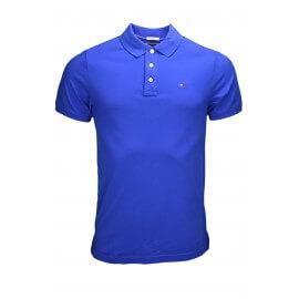 Polo Tommy Hilfiger basique bleu roi pour homme