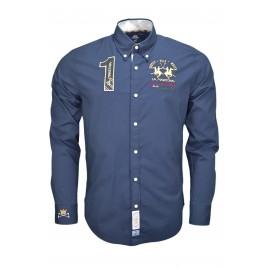 Chemise La Martina Leone bleu marine pour homme