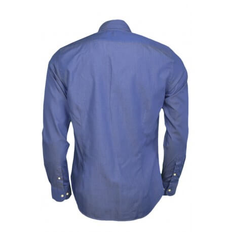 Chemise La Martina Malik bleue jean pour homme