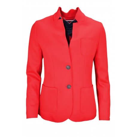 Blazer Tommy Hilfiger New Premium en laine rouge pour femme