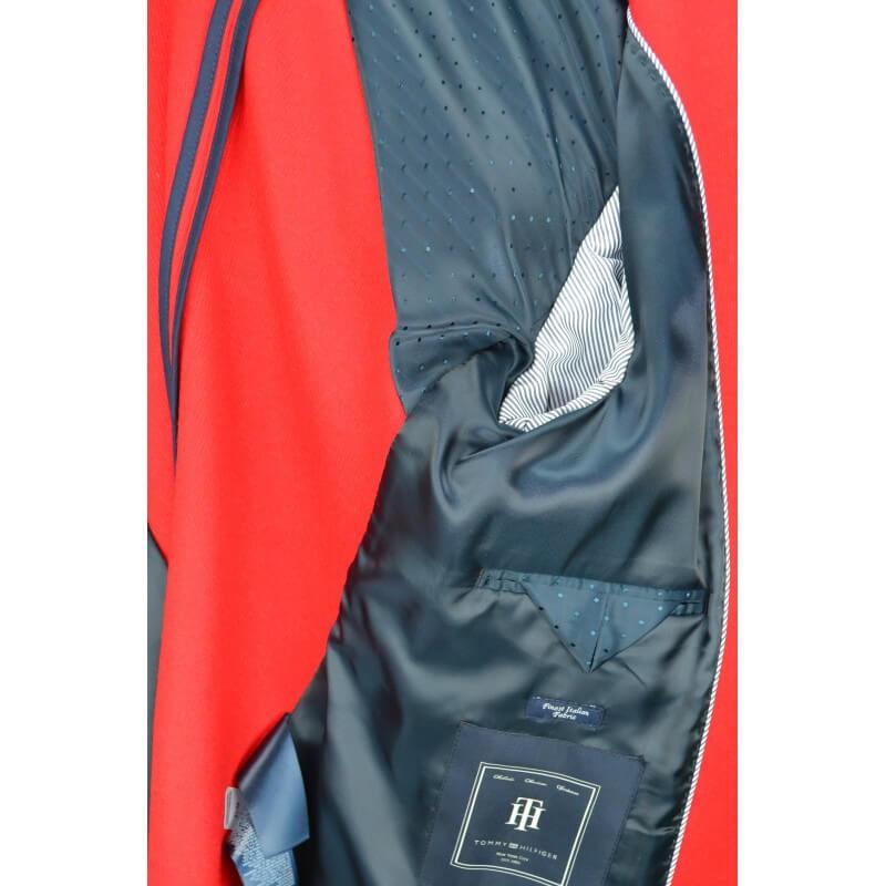 blazer tommy hilfiger new premium en laine rouge pour femme toujo. Black Bedroom Furniture Sets. Home Design Ideas