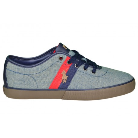 Baskets basses Ralph Lauren Halford chambray pour homme