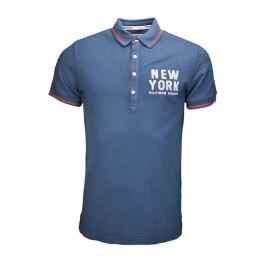 Polo Tommy Hilfiger New York bleu marine pour homme