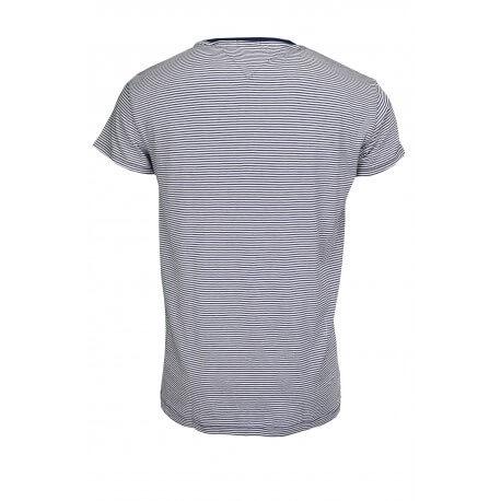 T-shirt Tommy Hilfiger rayé bleu marine et blanc pour homme