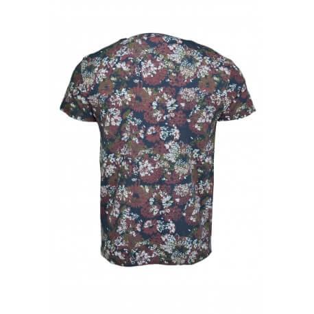 T-shirt Tommy Hilfiger Floral imprimé bleu marine et bordeaux pour homme