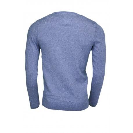 Pull col rond Tommy Hilfiger basique bleu pour homme