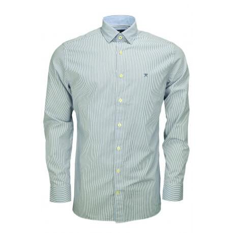 Chemise rayée Hackett Shadow bleu et blanche pour homme