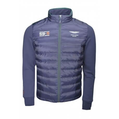 Veste bi-matière Aston Martin Hackett bleu marine pour homme