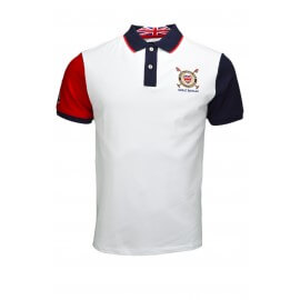 Polo Hackett England blanc pour homme