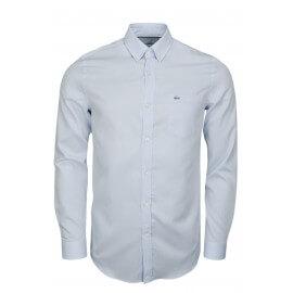 Chemise Lacoste basique bleu pour homme