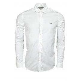 Chemise Lacoste blanche slim fit pour homme