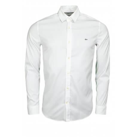 1da9aedad4 chemise lacoste blanche manches longues,Lacoste Homme Chemise Slim Fit  Stretch